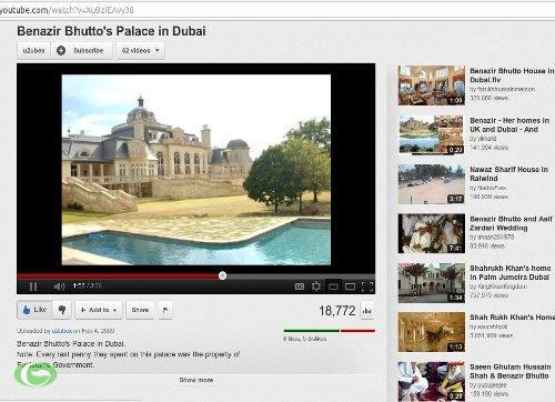 Video mô tả Lâu đài này của bà Benazir Bhutto