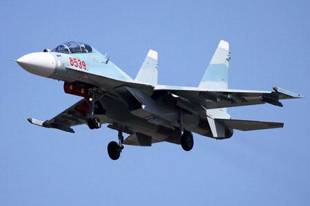 Chiến đấu cơ đa năng Su-30MK2V của Không quân Nhân dân Việt Nam.