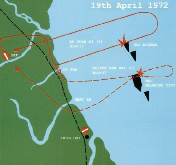 Không quân và Hải quân Việt Nam tập kích xé nát đội hình hành quân của Hạm đội 7 Mỹ trong trận hải chiến 19/4/1972