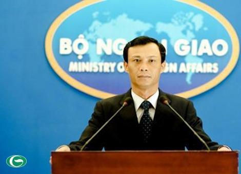 Người Phát ngôn Bộ Ngoại giao Lương Thanh Nghị khẳng định Việt Nam có chủ quyền không tranh cãi đối với quần đảo Hoàng Sa, Trường Sa