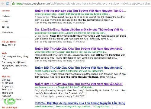 Hàng chục đường dẫn của các trang web, blog phản động đăng bải bài viết này.