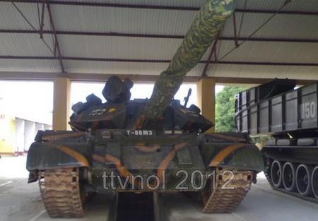 Cận cảnh xe tăng nâng cấp T-55M3 của Việt Nam. Nguồn: TTVOL