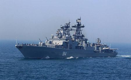 Khu trục săn ngầm lớp Udaloy của Hải quân Nga.