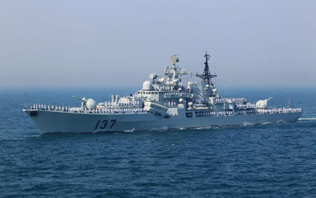 Khu trục tên lửa Phúc Châu thuộc lớp tàu Sovremenny