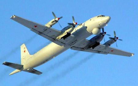 Máy bay tuần tra, trinh sát, chống ngầm Il-38 của Không quân Hải quân Nga.