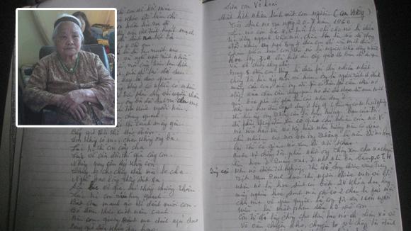 Bà Phạm Thị Hoán và những trang nhật ký buồn về con gái Bùi Thị Minh Hằng.