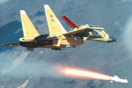 Su-30 phóng tên lửa không đối đất Kh-29.