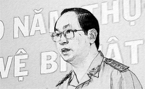 Thượng tướng Trần Đại Quang - Bộ trưởng Bộ Công an phát biểu tại hội nghị ổng kết 10 năm thực hiện Pháp lệnh bảo vệ bí mật nhà nước
