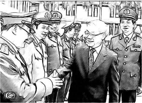 Thượng tướng Trần Đại Quang làm việc với Tổng cục Xây dựng lực lượng CAND