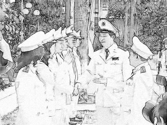 Bộ trưởng Bộ Công an Trần Đại Quang tới thăm một đơn vi công an