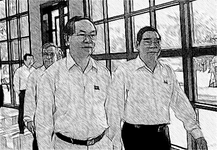 Bộ trưởng Công an Trần Đại Quang (trái) và người tiền nhiệm - đại tướng Lê Hồng Anh (ảnh: Việt Hưng).