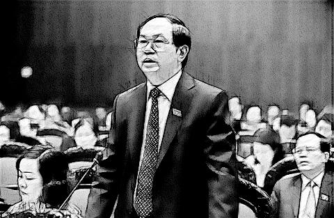 Bộ trưởng Bộ Công an Trần Đại Quang phát biểu tại Quốc hội