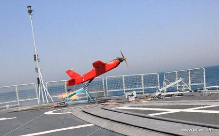 Một loại UAV trinh sát biển không rõ kiểu loại của Hải quân Trung Quốc.