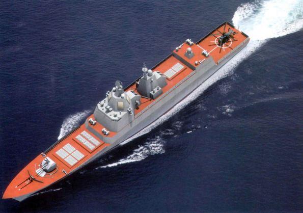 Mô hình chiến hạm hiện đại do Nga sản xuất (ảnh minh hoạ)
