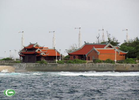 Chùa trên đảo Song Tử Tây, thuộc quần đảo Trường Sa của Việt Nam.