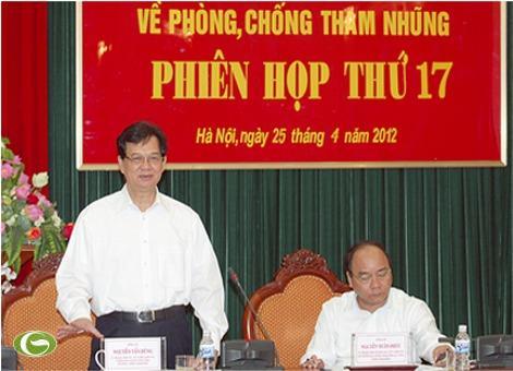 Thủ tướng Nguyễn Tấn Dũng chủ trì Phiên họp thứ 17 của Ban Chỉ đạo về phòng, chống tham nhũng