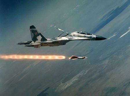 Su-30KN phóng tên lửa.