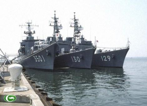 Tầu chiến hiện đại của Nhật đã được điều động tới Biển Đông