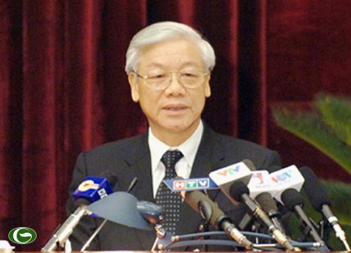 Tổng Bí thư Nguyễn Phú Trọng phát biểu bế mạc – Ảnh: VGP