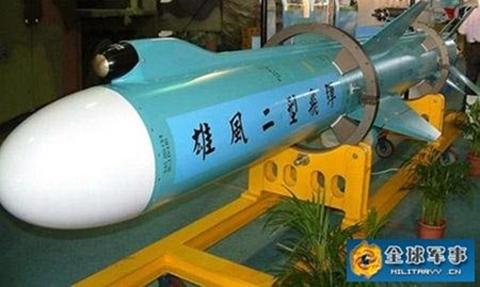 Tên lửa Hùng Phong 2E. Ảnh: Militaryy.cn