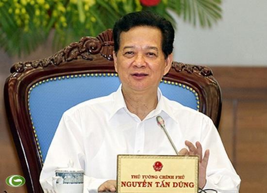 Thủ tướng Nguyễn Tấn Dũng phát biểu kết luận Phiên họp.