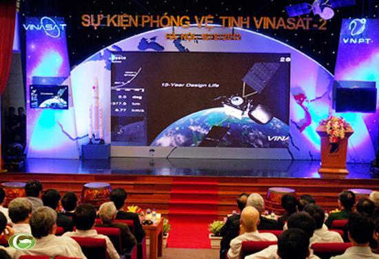 Hình ảnh tại buổi lễ tường thuật sự kiện phóng vệ tinh VINASAT-2