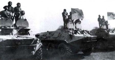 Xe bọc thép BTP-60PB được Liên Xô viện trợ.