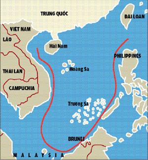 Với cái đường lưỡi bò tự vạch ra trên Biển Đông, Trung Quốc đang bị hầu hết các nước trong khu vực phản đối.
