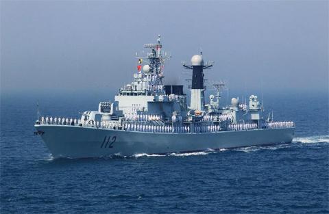 Khu trục hạm tên lửa Cáp Nhĩ Tân của hải quân Trung Quốc. Ảnh: Xinhua