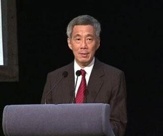 Ông Lý Hiển Long phát biểu trong phiên khai mạc hội nghị ICCA 2012 với trọng tâm xây dựng Singapore thành một trung tâm trọng tài quốc tế