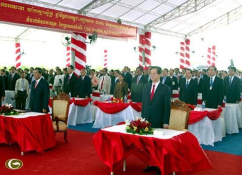 Lễ khánh thành cột mốc 314 trên tuyến biên giới đất liền Việt Nam - Campuchia.