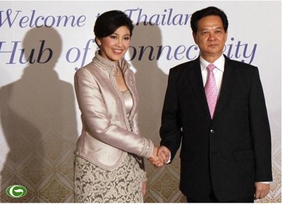 Thủ tướng Nguyễn Tấn Dũng và Thủ tướng Thái Lan
