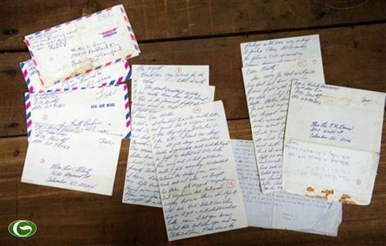 Các bức thư của Trung sĩ Mỹ Steve Flaherty.