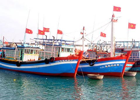 Tàu cá xa bờ của huyện đảo Lý Sơn, tỉnh Quảng Ngãi. Ảnh: Trí Tín