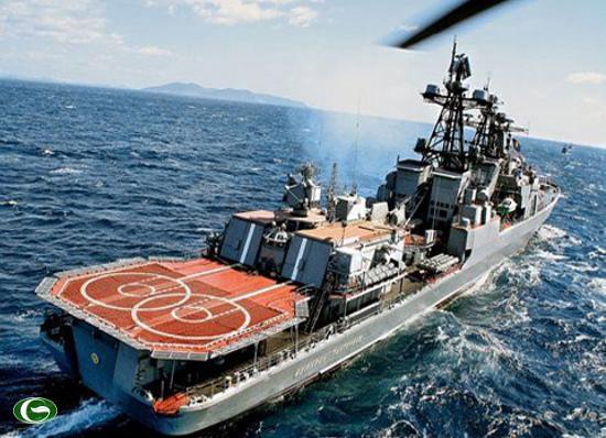 Tàu khu trục Đô đốc Panteleyev, một trong 3 tàu của Nga tham gia tập trận RIMPAC 2012.