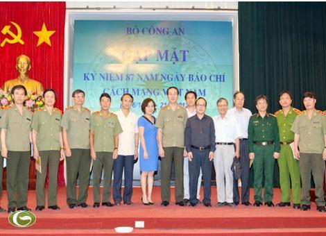 Đồng chí Thượng tướng Trần Đại Quang, Bộ trưởng Bộ Công an cùng các đại biểu dự buổi gặp mặt nhân kỷ niệm 87 năm ngày Báo chí cách mạng Việt Nam (21/6/1925- 21/6/2012).