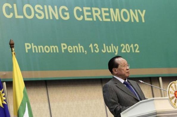 Ngoại trưởng Campuchia ông Hor Namhong trong Hội nghị Ngoại trưởng ASEAN vừa qua tại Phnom Penh