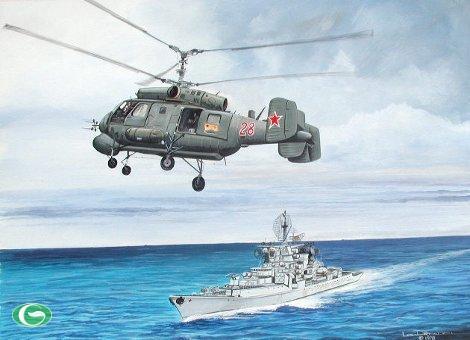 Ka-28 là tên gọi biến thể trực thăng săn ngầm (xuất khẩu) Ka-27