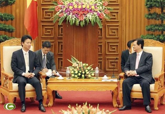 Thủ tướng Nguyễn Tấn Dũng tiếp Bộ trưởng Ngoại giao Nhật Bản