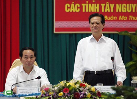 Thủ tướng Nguyễn Tấn Dũng đánh giá cao nỗ lực của vùng Tây Nguyên trong những năm qua