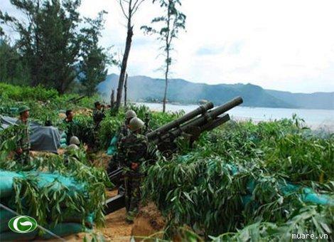 Pháo binh QK7 diễn tập