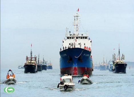 Đoàn 30 tàu cá của Trung Quốc quay về Tam Á sau khi đánh bắt trái phép ở Trường Sa