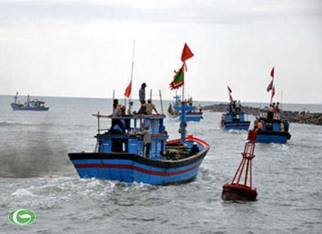 Tàu cá ngư dân Việt Nam thường xuyên hoạt động trên vùng biển thuộc chủ quyền Tổ quốc