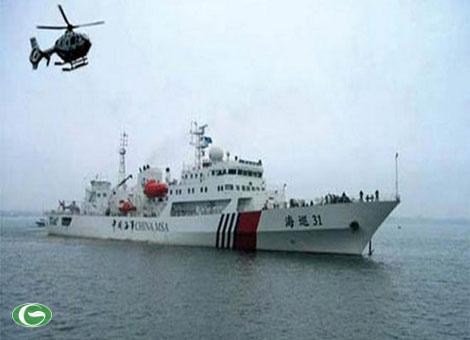 Tàu hải tuần 31 cùng máy bay trực thăng tuần tra trên biển