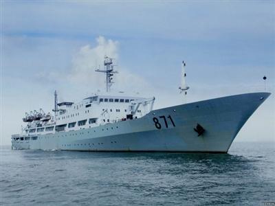Tàu 871 khi đang hoạt động trên biển.