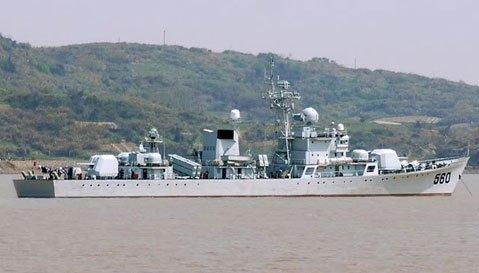 Tàu khu trục số hiệu 560 của Trung Quốc đã mắc cạn trong phạm vi vùng đặc quyền kinh tế của Philippines. Ảnh: Getty Images