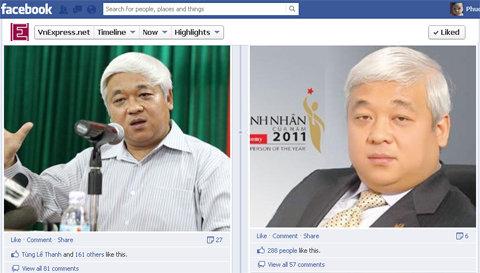 """Các """"post"""" liên quan đến ông Nguyễn Đức Kiên đều thu hút lượng comment lớn."""