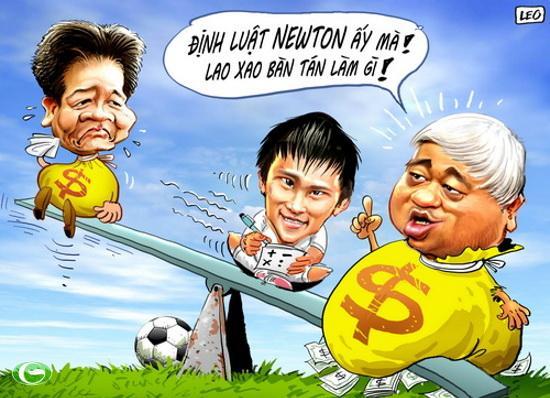 """""""Bầu"""" Kiên được nhiều người biết đến trong lĩnh vực hoạt động kinh tế và có tầm ảnh hưởng lớn với vai trò ông bầu trong làng bóng đá Việt Nam"""
