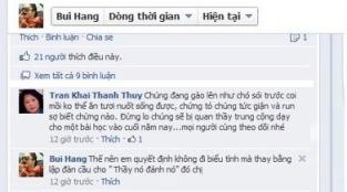 """Đây là đối thoại của hai nhân vật đang được một số người vinh danh là """"yêu nước"""": Bùi Thị Minh Hằng và Trần Khải Thanh Thủy,"""