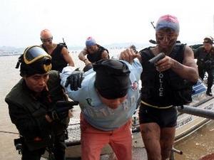Diễn tập chống khủng bố. (Nguồn: TTXVN)